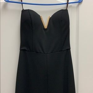 Black formal romper